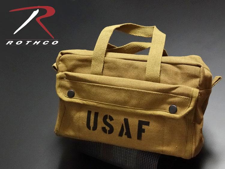 画像1: メカニック ツール バッグ メンズ USAF ロゴ 工具バッグ 工具箱 ROTHCO/ロスコ /コヨーテブラウン (1)