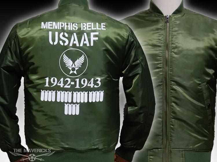画像1: MA-1 フライトジャケット メンズ メンフィスベル 爆弾エアフォース モデル オリーブドラブ (1)
