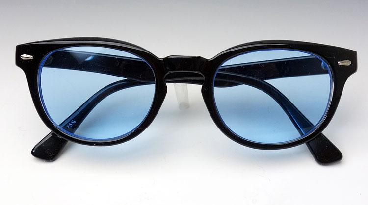画像1: ボストン型 サングラス ジョニーデップ タイプ ブラック 黒 ブルー 青 (1)