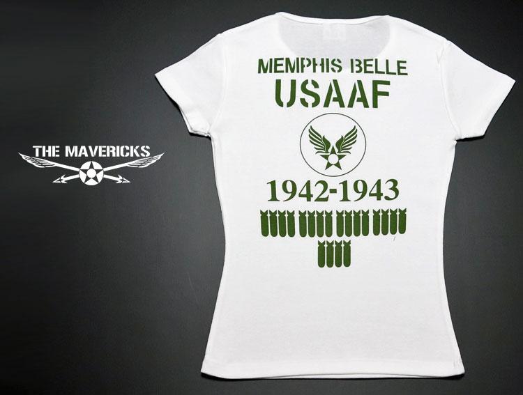 画像1: レディースTシャツ・爆弾エアフォースモデル/ホワイト×オリーブ (1)