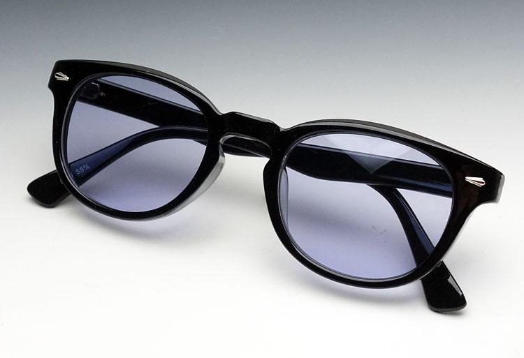 画像1: ボストン型 サングラス ジョニーデップ タイプ ブラック 黒 バイオレット (1)