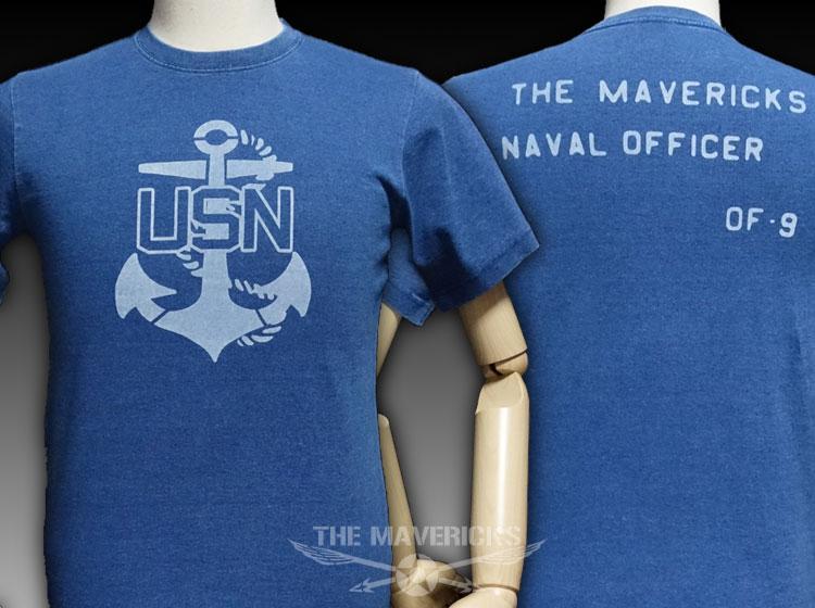 画像1: デニムTシャツ 米海軍 USN 錨マーク ヴィンテージ仕様 ミリタリー/ライトインディゴ (1)