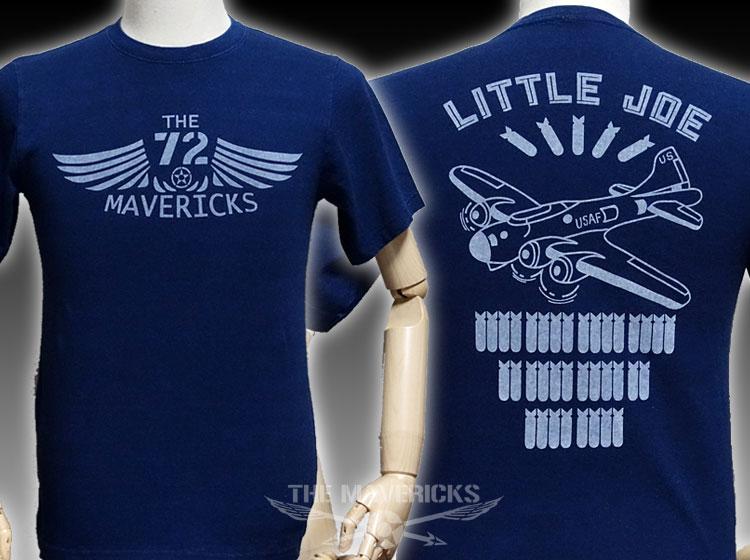 画像1: デニムTシャツ リトルジョー爆撃機モデル ヴィンテージ仕様 ミリタリー/ダークインディゴ (1)