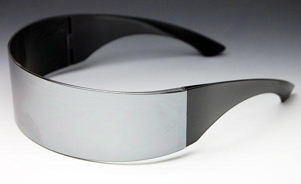 画像1: サングラス メンズ シールド型 サイバーパンク 未来系 ロボコップ / ブラック ミラー (1)