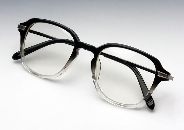 画像1: メガネ フレーム 鯖江 職人 ハンドメイド メタル&セル ボストン / ツートンカラー 新品 (1)
