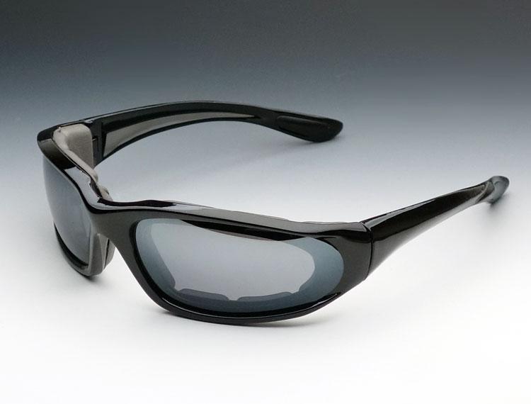 画像1: バイカーズ シェイド ブラック 黒 スモークグラデーション  防風 サングラス ゴーグル (1)