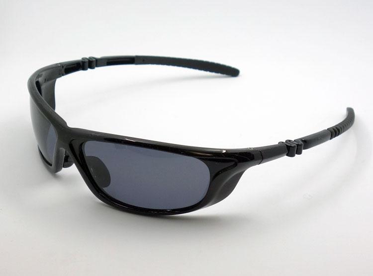 画像1: 軽量 19g 偏光レンズ スポーツ サングラス 黒 スモーク / ポラライズド (1)