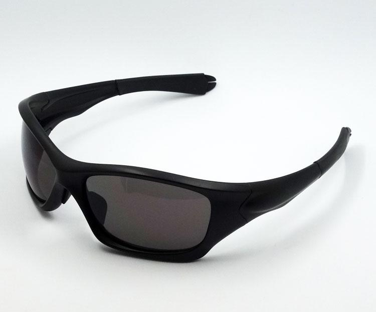 画像1: スポーツ サングラス バイカーズ シェイド型 ブラック 黒 スモーク 防風 ゴーグル 新品 (1)