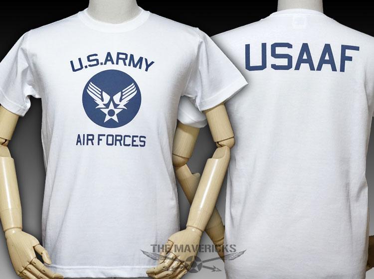 画像1: 極厚 スーパーヘビーウェイト Tシャツ ARMY AIRFORCE エアフォース ビンテージ / 白 ホワイト (1)