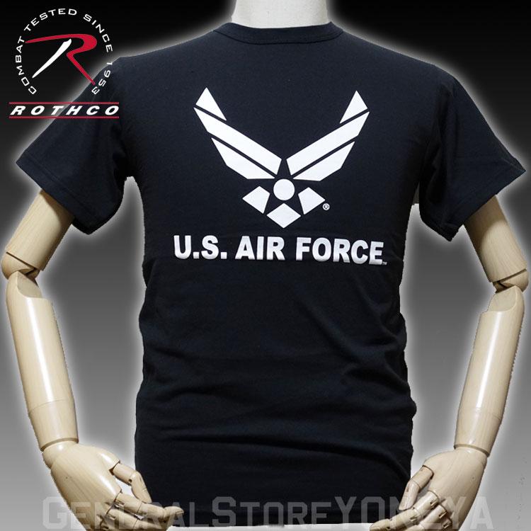 画像1: ミリタリー Tシャツ U.S.AIRFORCE エアフォース オフィシャル ROTHCO ロスコ 社 新品 ブラック 黒 (1)