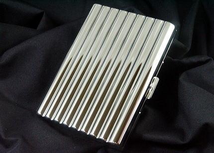 画像1: メタルのシガレットケース・ウェーブ・ロング18本 (1)