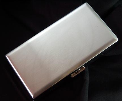画像1: 日本製・メタルのシガレットケース・スクエア・ロング12本 (1)