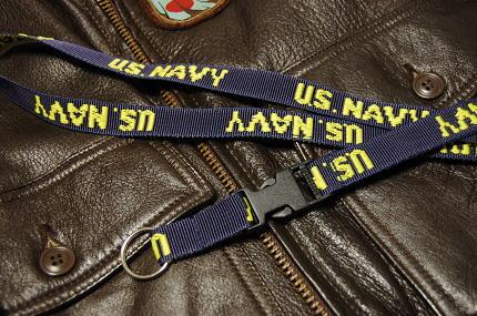 画像1: ネック ストラップ ROTHCO ロスコ ブランド U.S.NAVY 米海軍 ネイビー 紺 新品 (1)
