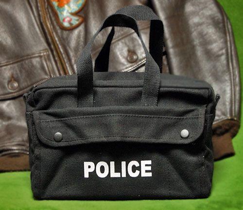 画像1: メカニック ツール バッグ メンズ 浅 工具バッグ 工具箱 ROTHCO/ロスコ POLICE ロゴ /ブラック 黒 (1)