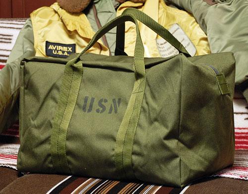 画像1: USN ナイロンクルーバッグ ROTHCO ロスコ 社製 ボストンバッグ 新品 / オリーブドラブ (1)
