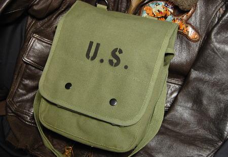 画像1: USステンシル マップバッグ  ショルダーバッグ メンズ キャンバス地 ROTHCO ロスコ 社 ブランド 新品/オリーブ (1)