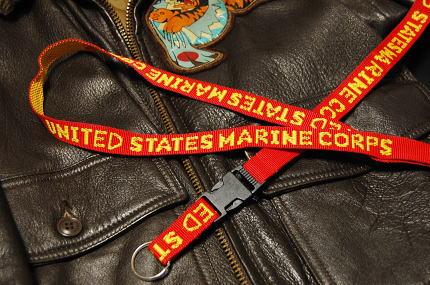 画像1: ネック ストラップ ROTHCO ロスコ ブランド U.S.MARINE 米海兵隊 レッド 赤 新品 (1)