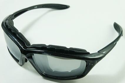 画像1: サングラス バイク ブラック 黒 高品質 防風 シェイド ゴーグル (1)