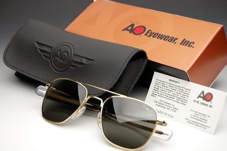 画像1: 偏光サングラス メンズ American Optical アメリカンオプティカル社 USA製 オリジナルパイロット 新品 / 偏光 ゴールド (1)