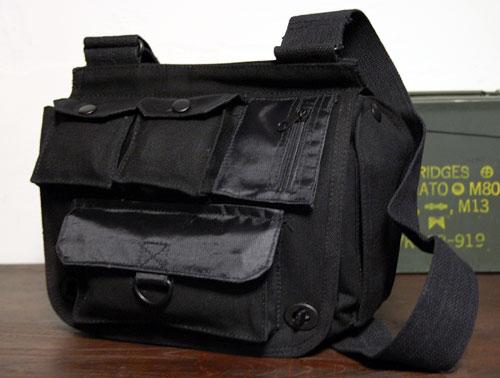 画像1: サバイバルバッグ ROTHCO ロスコ 社製 キャンバス地 メンズ ショルダーバッグ / ブラック 黒 (1)