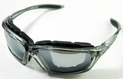 画像1: サングラス バイク クリアーシルバー 高品質 防風 シェイド ゴーグル (1)