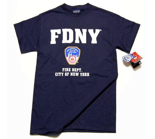 画像1: Tシャツ メンズ ロゴT ニューヨーク市 消防局 オフィシャル ROTHCO ロスコ 社 新品/ネイビー 紺 (1)